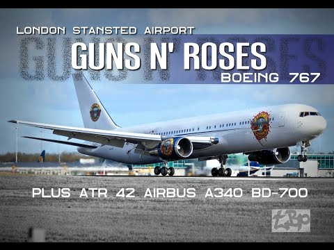 Guns N' Roses Plane London Stansted Airport GNR Boeing 767 A