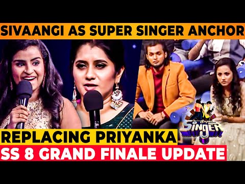 Super Singer 8 Grand Finale : Sivaangi As Anchor 🔥 - Priyanka | Vijay TV Promo | Bigg Boss Tamil 5