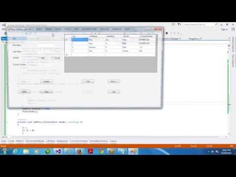 ADO.NET Online Class Day 10 - Working with DataSet - CRUD Operations in Single Form