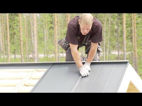 Как покрыть крышу оцинкованным листом своими руками видео