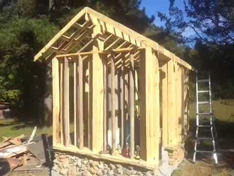 Building A New Well House Part 2 Cutting Lumber Framing