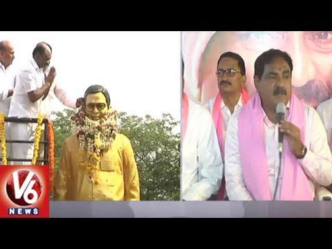 Minister Errabelli Dayakar Rao Hoists TRS Flag In Warangal   V6 News