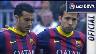Minuto de silencio por Luis Aragonés en el Camp Nou