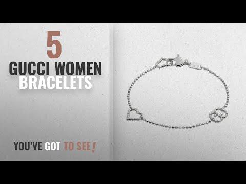 0c08895fc 10 Best Gucci Design Women Bracelets: Gucci Women's Boule Bracelet w/ Open  Heart Motif Silver 17 cm - YouTube