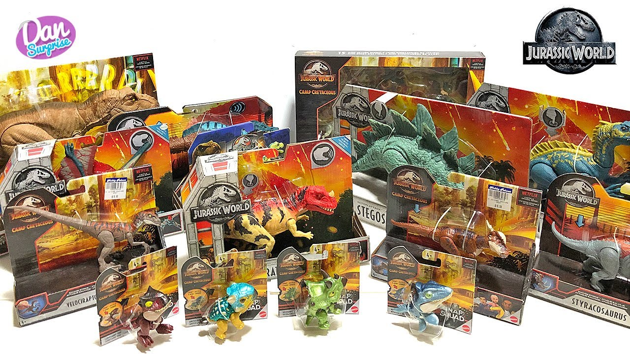 BOXES OF JURASSIC WORLD DINOSAURS! Jurassic World Camp Cretaceous Action Figures