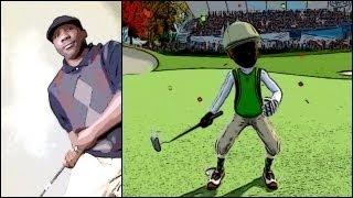Kinect Sports 2 - ActionCam Golf Swing Like Charles Barkley | I