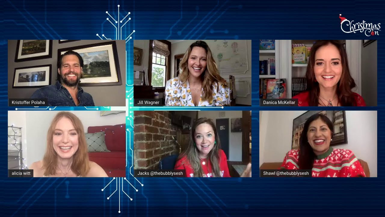 CHRISTMAS VIRTUAL CON - Panel # 6 Jill Wagner, Kris Polaha and Alicia Witt Hosted by Bubbly Sesh