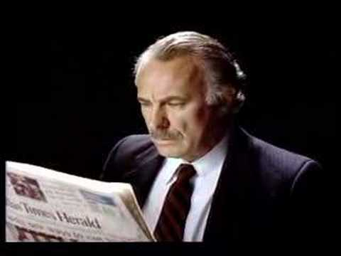 Dallas Times Herald advertisement with Dabney Coleman