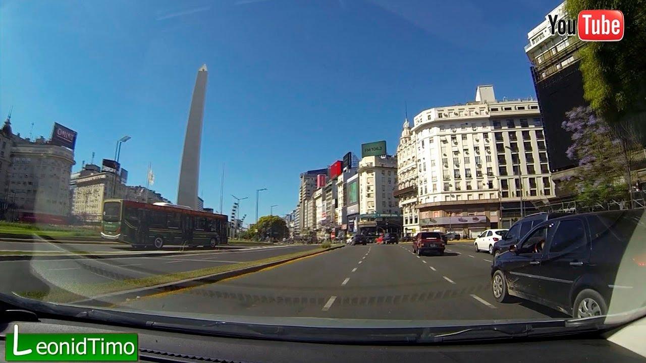 АРГЕНТИНА | Буэнос Айрес из окна автомобиля. leonid Timo