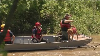 Rescue crews searching for man swept downstream in Hocking River