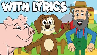 The Farmer In The Dell WITH LYRICS | Nursery Rhymes And Kids Songs