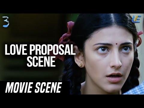 3 - Dhanush Love proposal scene | Dhanush | Shruthi Hassan | Sivakarthikeyan | Anirudh
