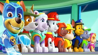 PAW Patrol Mighty Pups Save Adventure Bay - Rubble, Rocky Super Heroic Save The Day Part 2 - Nick Jr