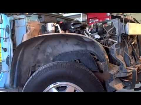 How to remove a Chevy fender - YouTube