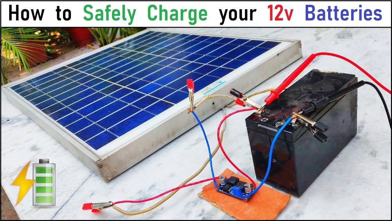 Run 12v 500w Dc Motor Charge 12v Battery With 40w Solar Panel Safely Charge A 12v Ups Battery Youtube