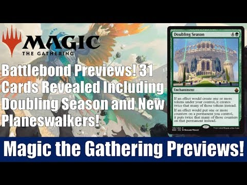 MTG Batllebond Previews: 31 Cards Revealed Including Doubling Season and New Planeswalkers
