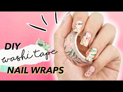 NAIL STICKERS With WASHI TAPE?! Easy Hack For DIY Nail Decals/Wraps 💅