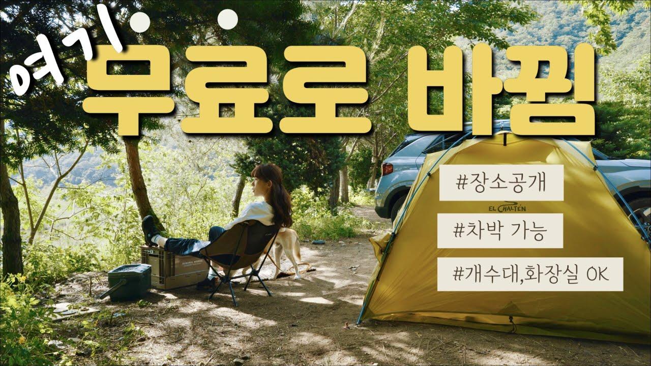 진짜 무료로 바뀐 캠핑장   차박가능   홍천 장소공개   소니 SEL24F28G렌즈   촬영꿀팁  솔로캠핑