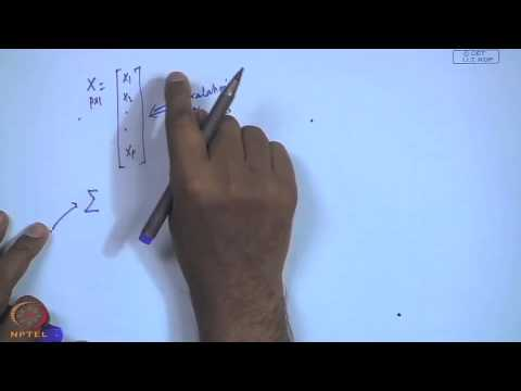 Mod-01 Lec-01 Introduction to multivariate statistical modeling