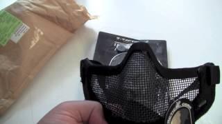 Unboxing Airsoft, [Français] : EBairsoft (headset Ztactical, Half-mask)