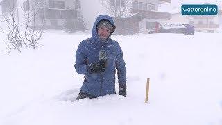 WetterReporter im Schnee: Viel Neuschnee in den Alpen (10.12.2018)