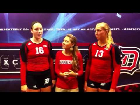Liz Homan and Allison Foschia postgame interview