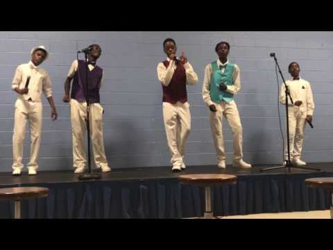 "The young men of Detroit Academy of Arts and Sciences Choir rendition of ""Can you stand the rain"""
