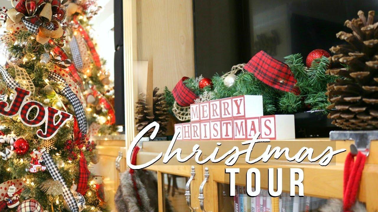 christmas house tour 2017 christmas farmhouse decor on a budget page danielle - Christmas Tree Shop Pembroke
