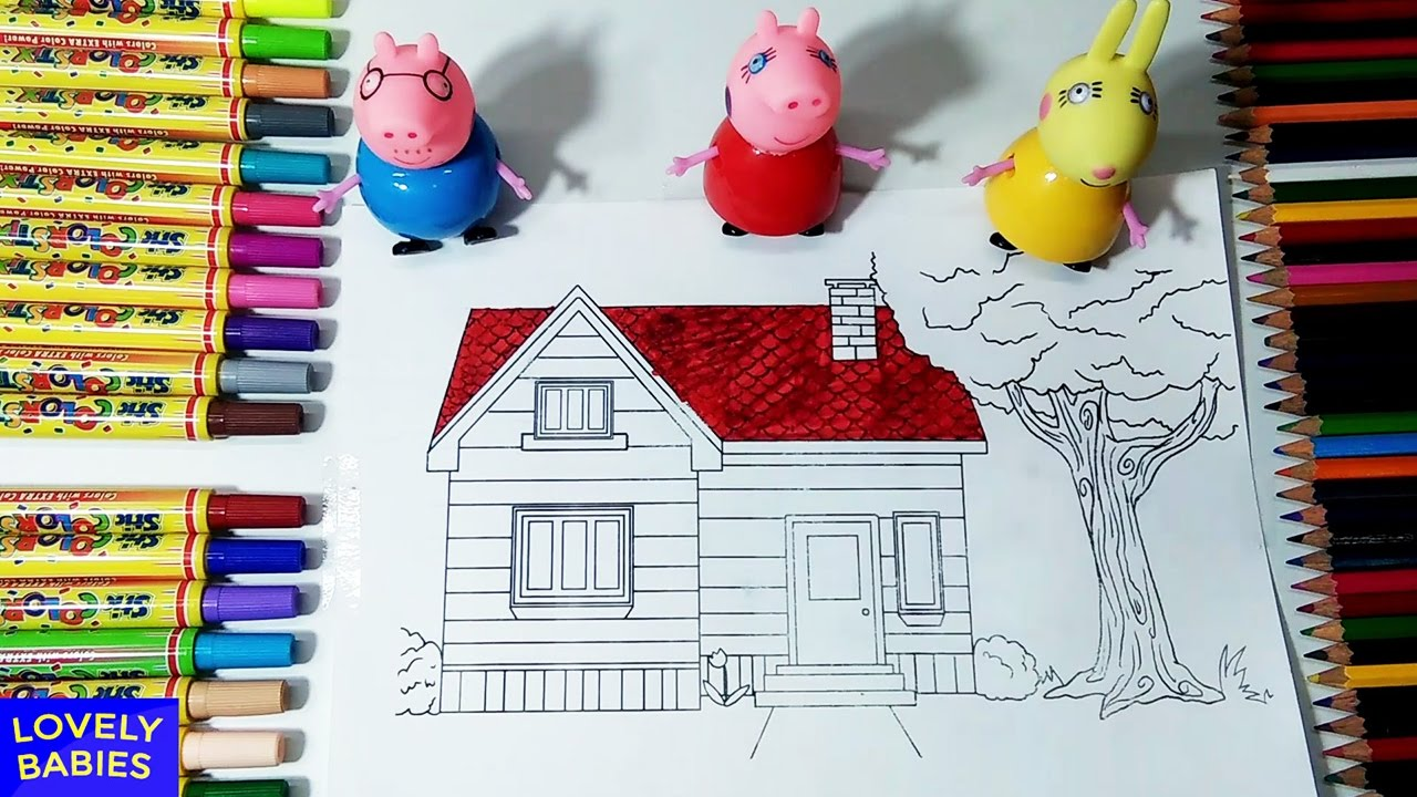peppa pig house coloring pages for kids children toddlers and babies fun and creative for kids - House Coloring Pages Toddlers
