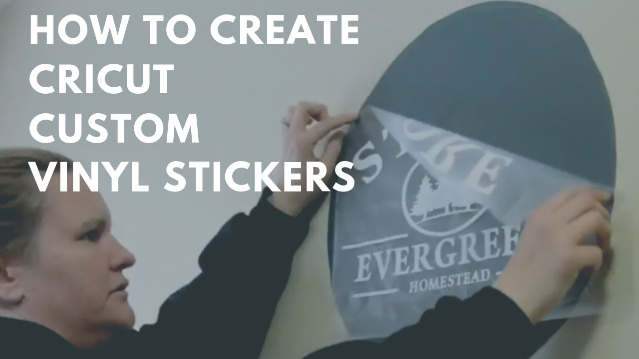 How to make stickers and signs with a cricut machine vinyl