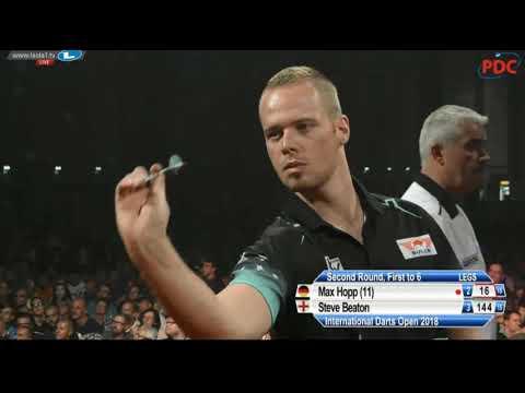 🎯 Max Hopp v Steve Beaton   Round 2   International Darts Open 2018   Riesa