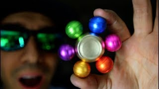 DIY SPINNER RAINBOW GALLIUM!!! How To Make FIDGET SPINNERS fusing COLORFUL LIQUID METAL GALIUM!