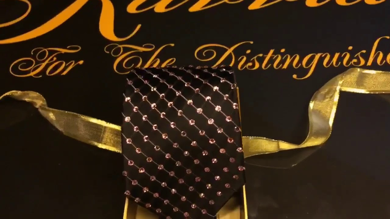 500 Swarovski Crystals Breast Cancer Awareness Kavviar Tie