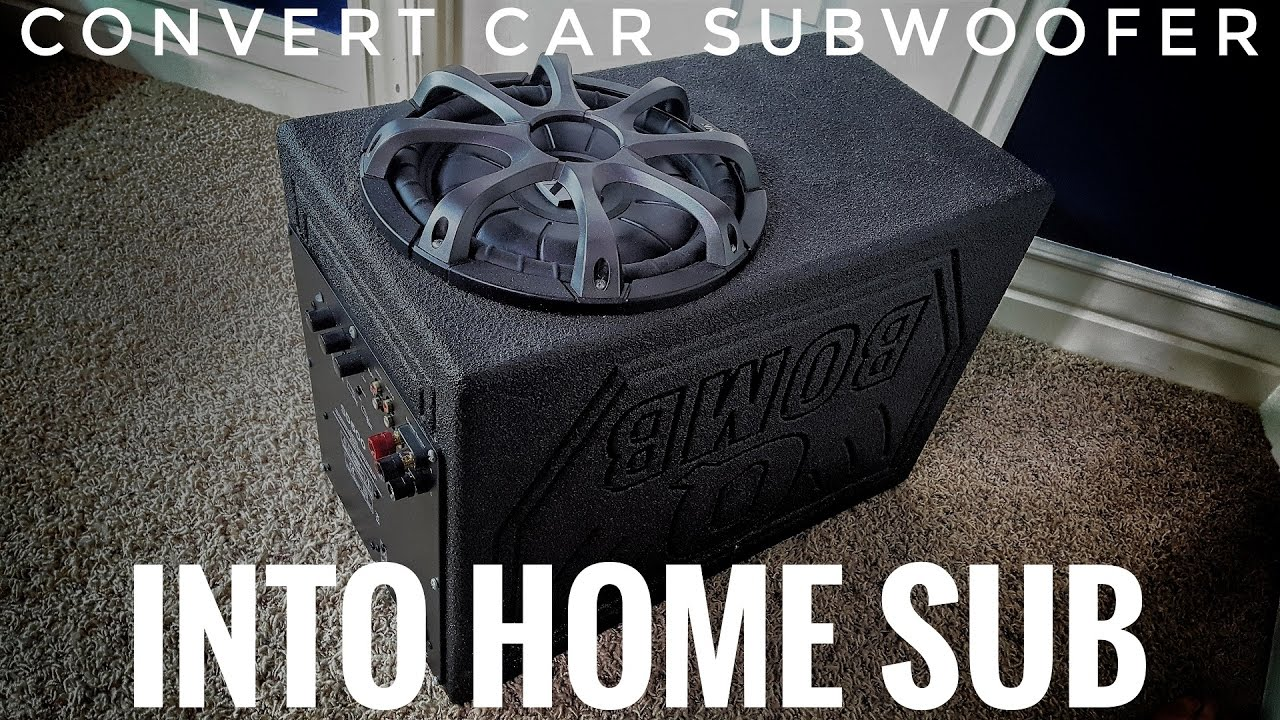 Convert Car Subwoofer Into Home Theater Youtube Wiring Inside Box
