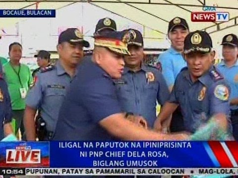 NTVL: Iligal na paputok na ipiniprisinta ni PNP Chief Bato Dela Rosa, biglang umusok