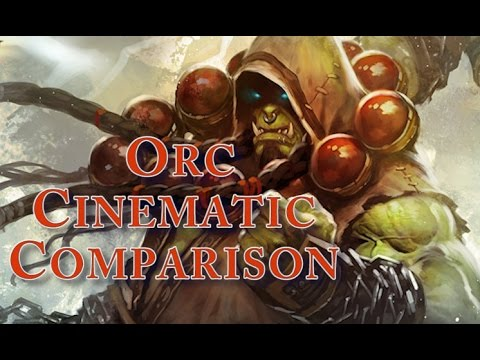 World Of Warcraft - Vanilla and Cataclysm Orc Starting Zone Cinematic Comparison