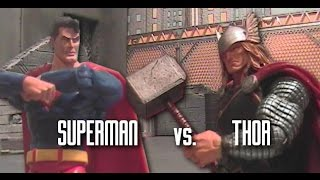 Superman Vs. Thor (DC Vs. Marvel Stop Motion)
