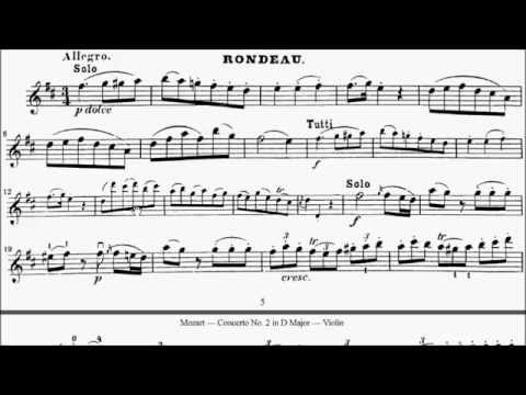 ABRSM Violin 2016-2019 Grade 7 A:2 A2 Mozart Rondo K.211 Concerto in D Movt 3 Sheet Music
