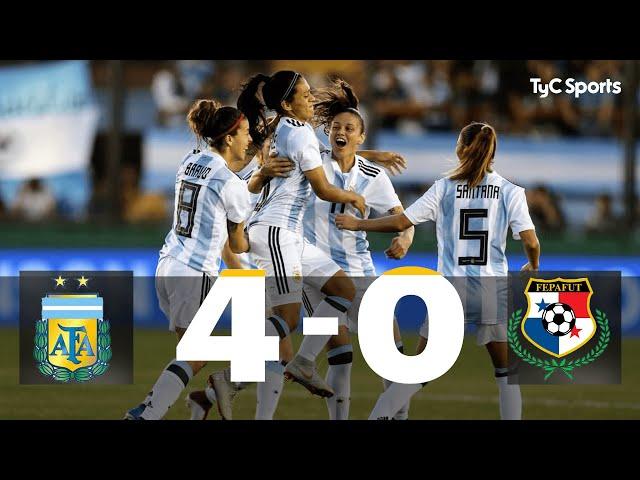 Argentina 4-0 Panamá: Repechaje Ida Mundial Femenino Francia 2019