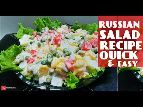 Russian Salad Recipe By Chef Food | Iftar Recipes | How To Make Russian Salad | Ramadan Dishes