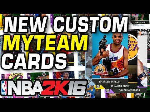 New Custom myTeam Cards NBA 2K16
