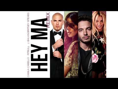 PitBull Britney Spears Camila Cabello  J. Balvin - Hey Mama Remix