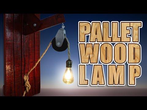 DIY : Pallet Wood Lamp