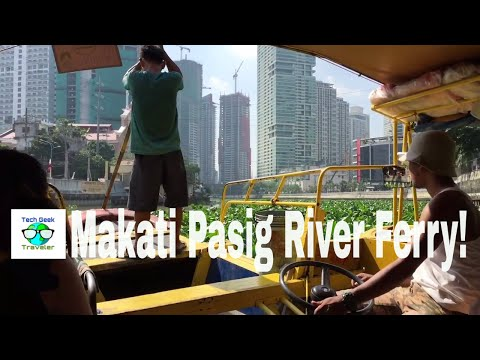 Makati Pasig Ferry, Giant Water Lilies, Cheap Breakfast | (Tech & Travel Life, Philippines)