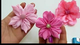 Lindas flores em tecido para customização