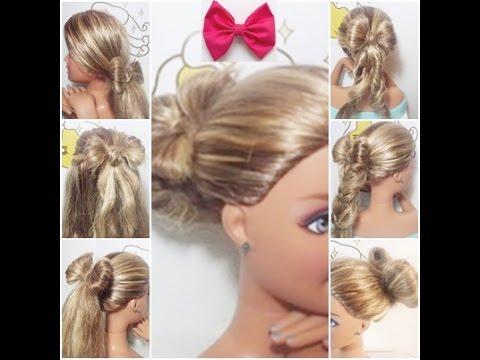 7 peinados con lazo | paso a paso fáciles y rápidos (barbie) - youtube