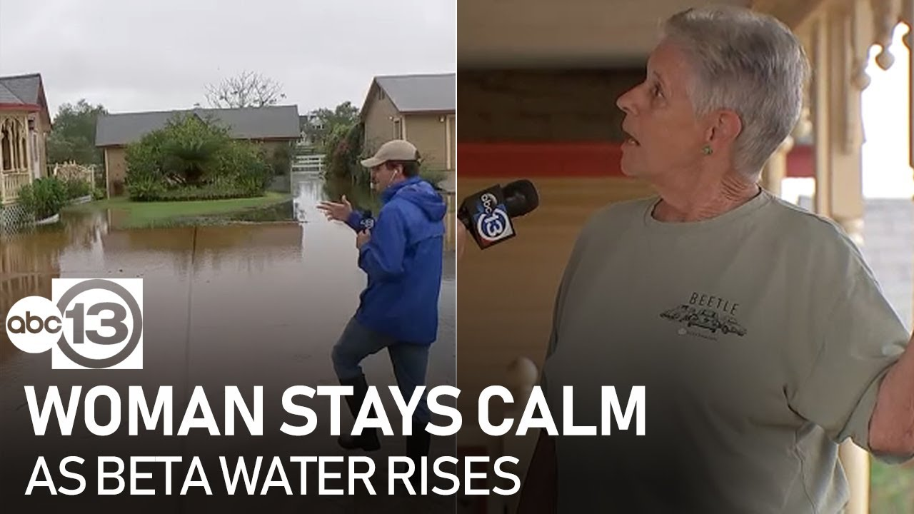 Woman who flooded during Harvey takes Beta's rain in stride