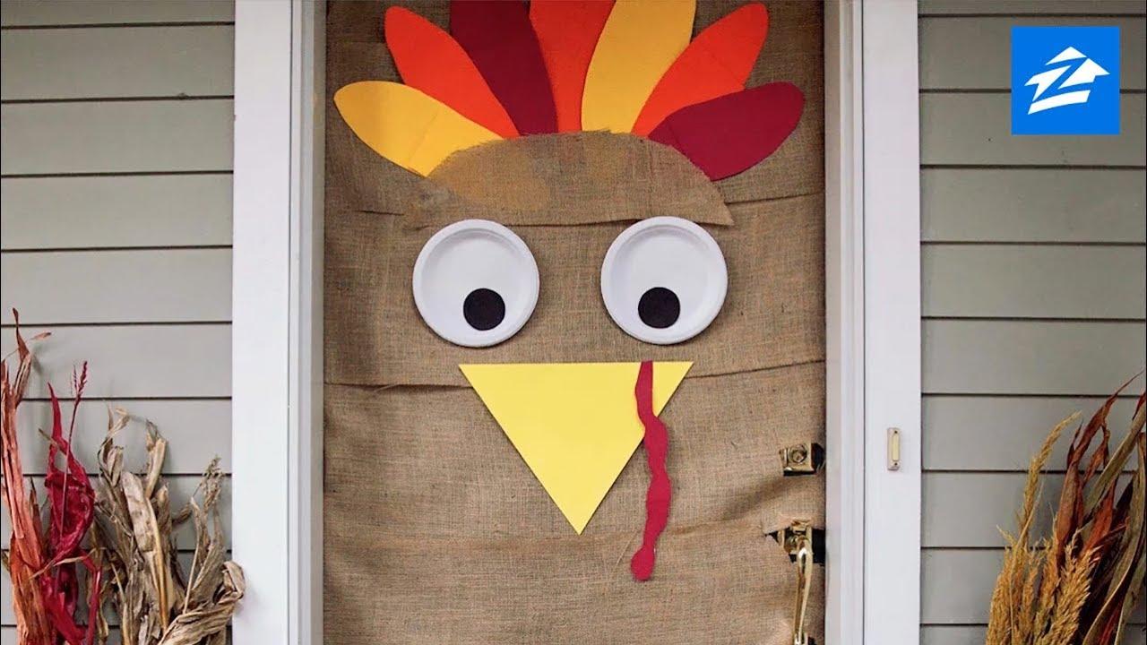 DIY Thanksgiving Decoration: Turn Your Door Into a Turkey ...