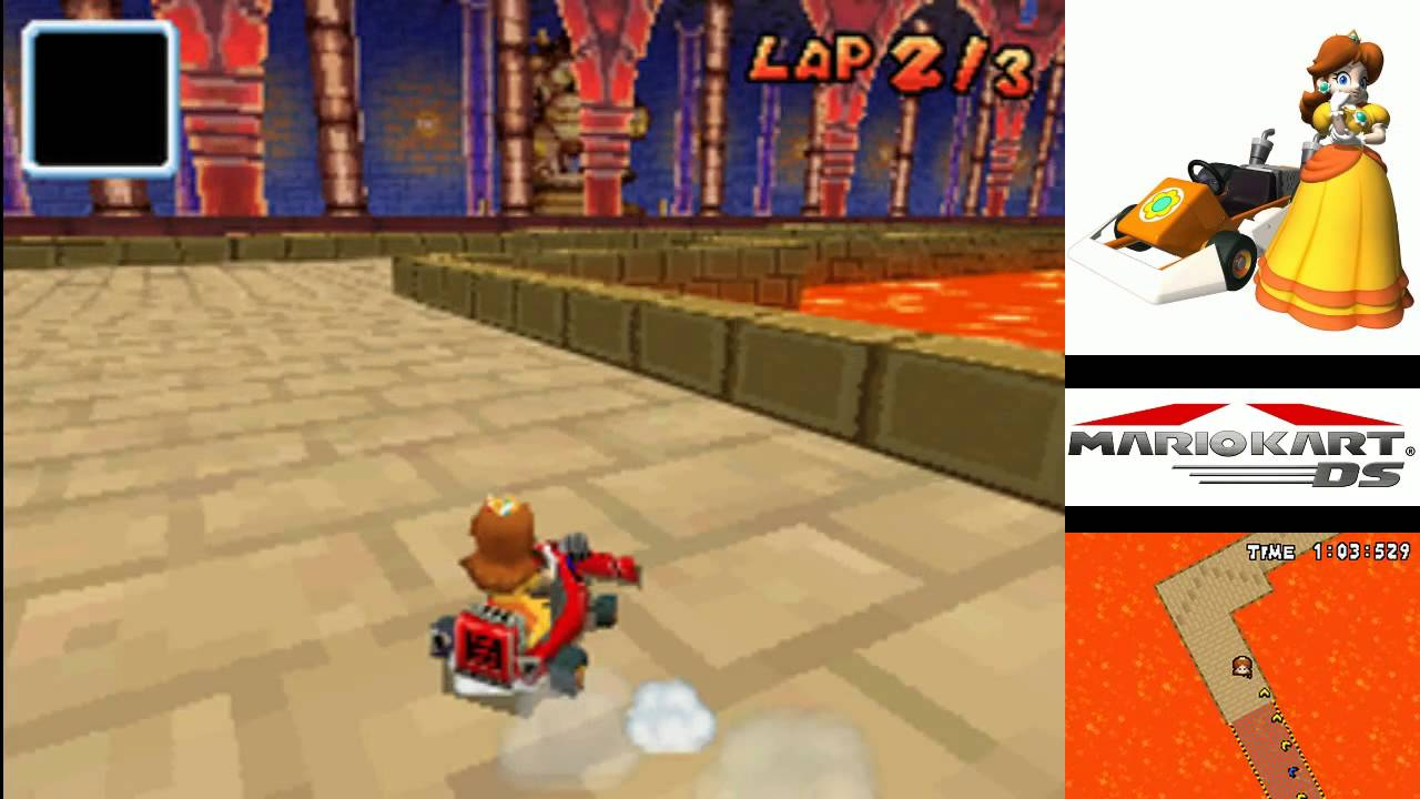 Mario Kart Ds Time Trial Retro Bowser Castle 2 1 43 078 Youtube