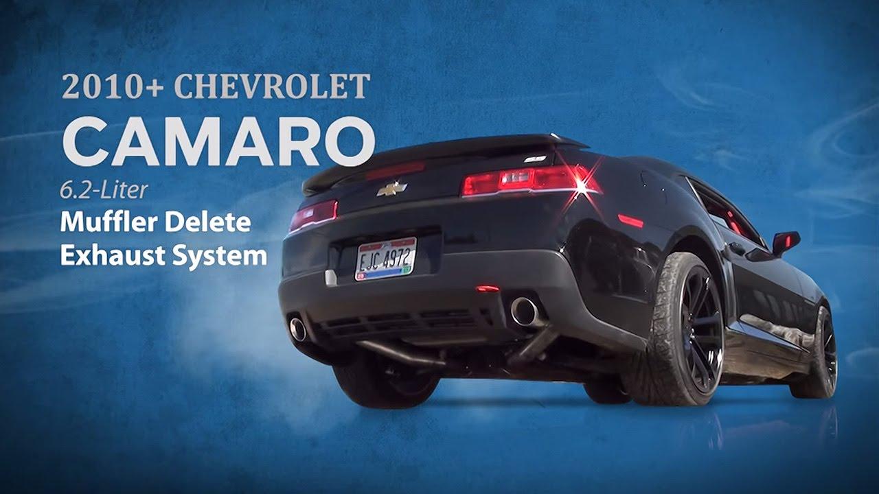 3 inch muffler delete exhaust system for camaro 2010 14 v8